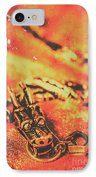 Dragon iPhone 7 Case - Vintage Dragon Charm by Jorgo Photography - Wall Art Gallery