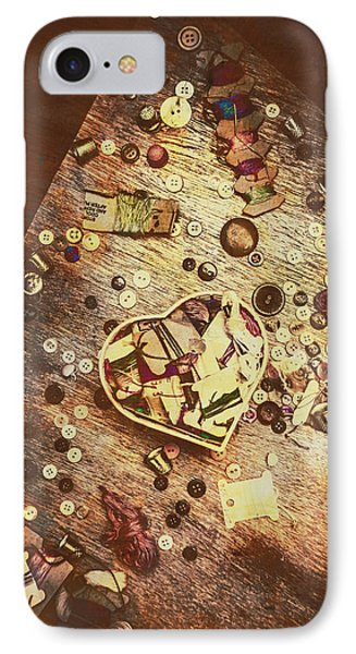 Vintage Dressmakers Table IPhone Case by Jorgo Photography - Wall Art Gallery