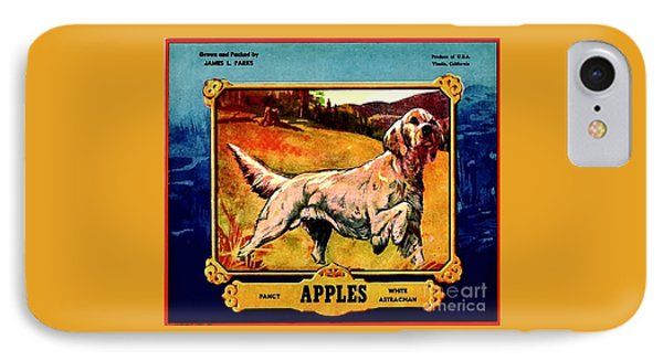Vintage English Setter Apples Advertisement IPhone Case by Peter Gumaer Ogden