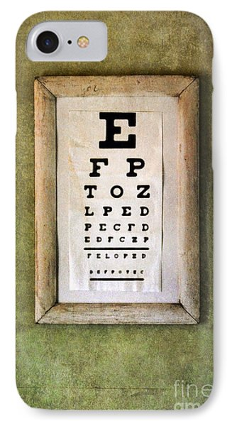 Vintage Eye Chart IPhone Case