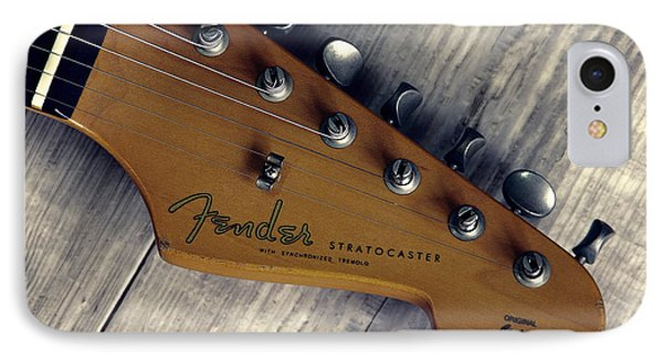 Vintage Fender Stratocaster Head IPhone Case by Daniel Hagerman