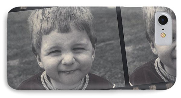 Vintage Filmstrip Boy Smiling For The Camera IPhone Case