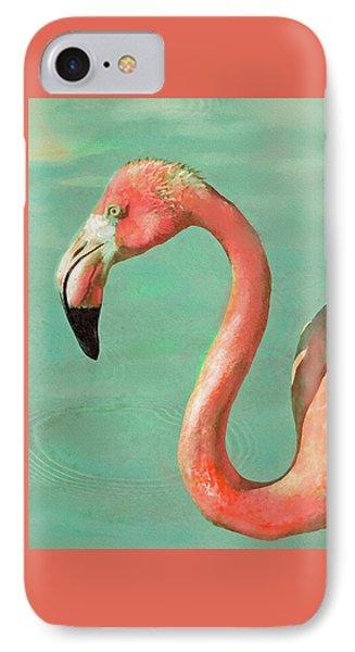 IPhone Case featuring the digital art Vintage Flamingo by Jane Schnetlage
