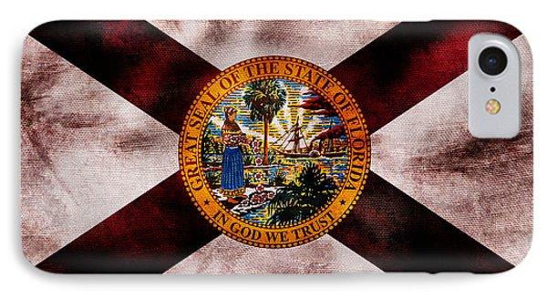 Vintage Florida Flag IPhone Case by Jon Neidert
