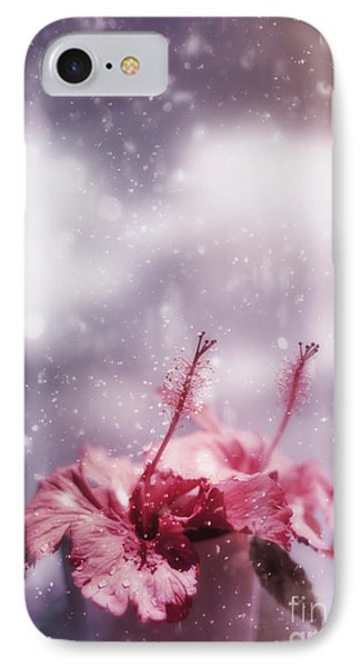 Vintage Flower In The Summer Rain IPhone Case by Jorgo Photography - Wall Art Gallery