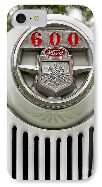 Vintage Ford 600 Nameplate Emblem IPhone Case by Edward Fielding