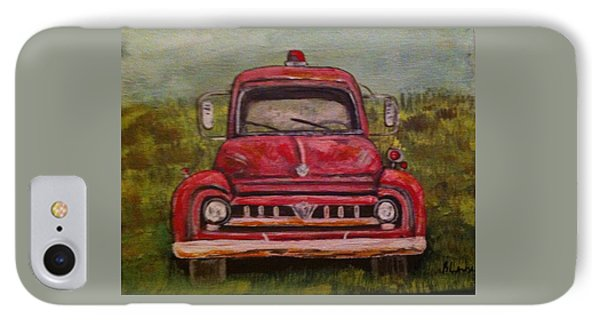 Vintage  Ford Fire Truck IPhone Case by Belinda Lawson