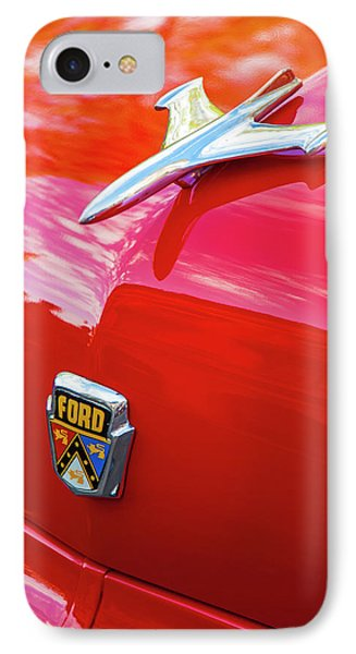 Vintage Ford Hood Ornament Havana Cuba IPhone Case by Charles Harden