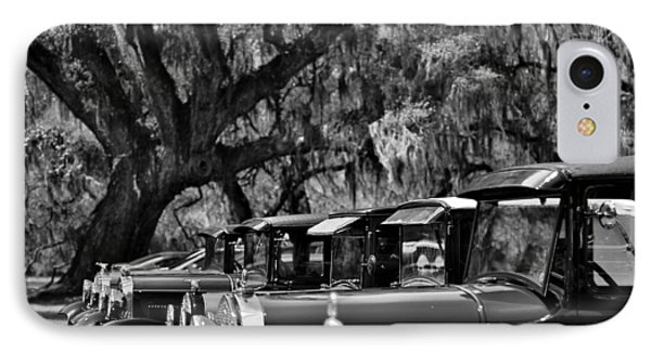 Vintage Ford Line-up At Magnolia Plantation - Charleston Sc IPhone Case