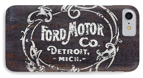 Vintage Ford Motor Co. Rusty Sign IPhone Case by Edward Fielding