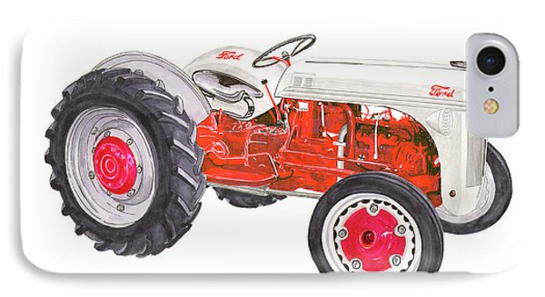 Vintage Ford Tractor 1941 IPhone Case by Jack Pumphrey