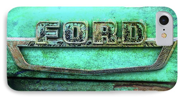 Vintage Ford Truck Logo  IPhone Case by Terry DeLuco