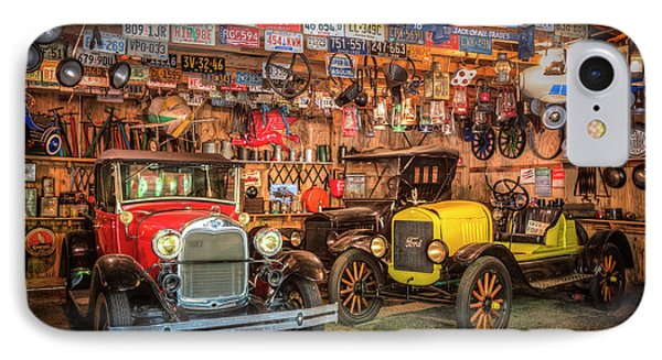 IPhone Case featuring the photograph Vintage Fords Collectibles by Debra and Dave Vanderlaan