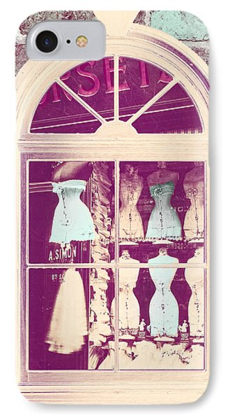 Vintage French Corset Shop IPhone Case by Mindy Sommers