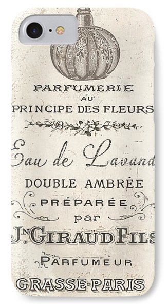 Vintage French Perfume Sign IPhone Case by Mindy Sommers