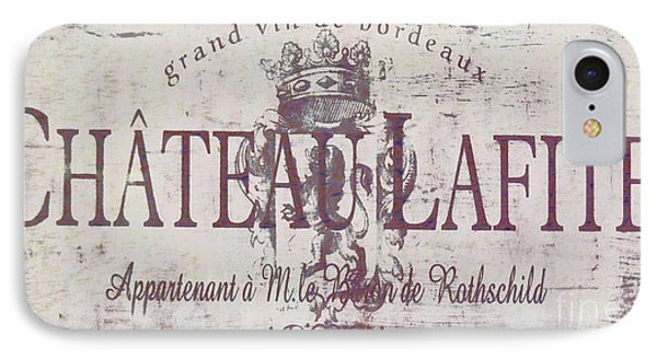 Vintage French Wine Sign IPhone Case by Mindy Sommers