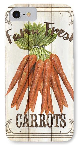 Carrot iPhone 7 Case - Vintage Fresh Vegetables 3 by Debbie DeWitt
