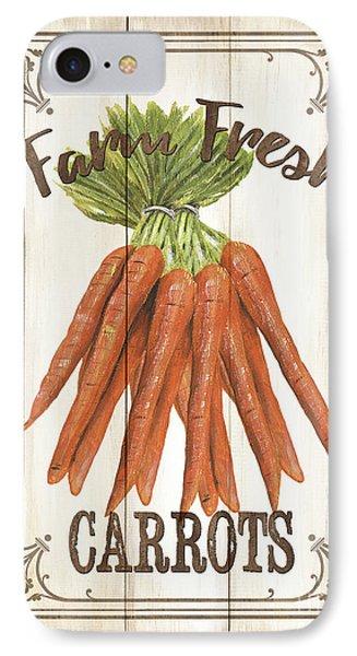 Vintage Fresh Vegetables 3 IPhone 7 Case by Debbie DeWitt