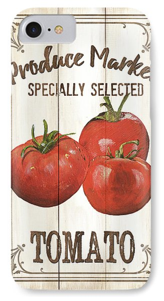 Tomato iPhone 7 Case - Vintage Fresh Vegetables 4 by Debbie DeWitt