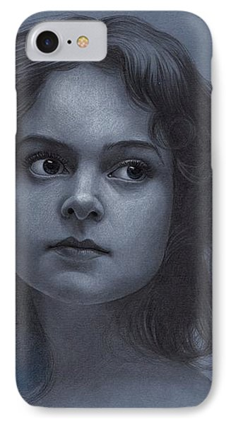 Vintage Girl - Pencil Drawing IPhone Case