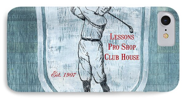 Vintage Golf Blue 1 IPhone Case