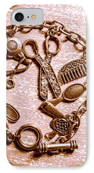 Vintage Hairdressing Charm IPhone Case