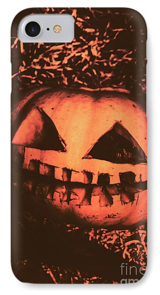 Vintage Horror Pumpkin Head IPhone Case by Jorgo Photography - Wall Art Gallery