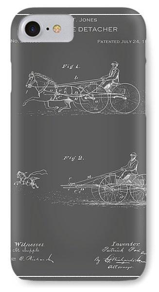 Vintage Horse Detacher Patent IPhone Case by Vintage Pix