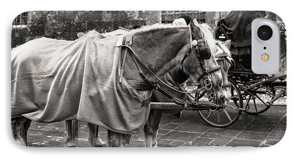 Vintage Horses In Salzburg IPhone Case