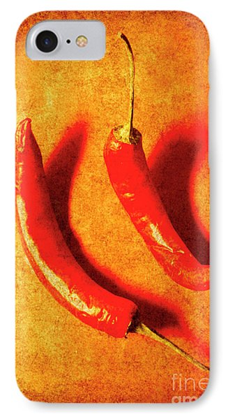 Vintage Hot Curry Peppers IPhone Case