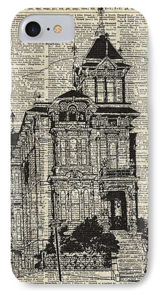 Vintage House Over Dictionary Page IPhone Case by Jacob Kuch