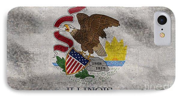 Vintage Illinois Flag IPhone Case