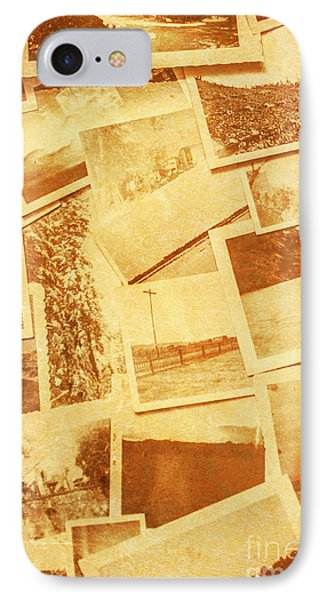 Vintage Image Of Various Photographs On Table  IPhone Case by Jorgo Photography - Wall Art Gallery