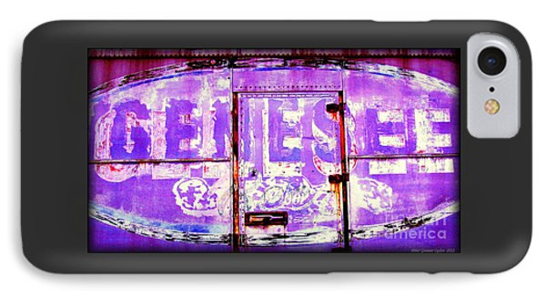 Vintage Industrial Genesee Beer Sign IPhone Case by Peter Gumaer Ogden
