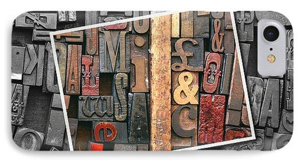 Vintage Inked Typeface IPhone Case