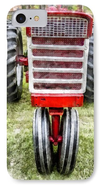 Vintage International Harvester Tractor IPhone Case by Edward Fielding