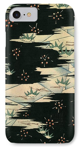 Vintage Japanese Illustration Of A Black And White Abstract Landscape IPhone Case by Japanese School