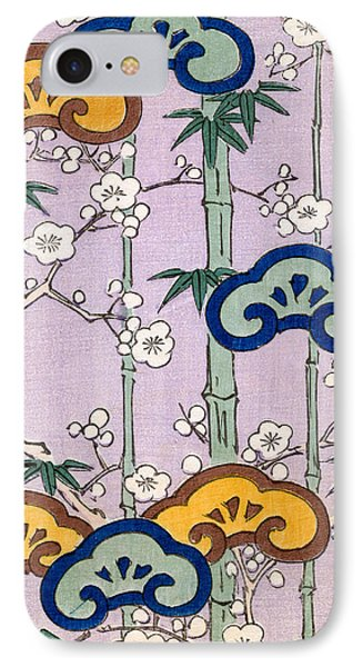Vintage Japanese Illustration Of Bamboo And Blossom IPhone Case by Japanese School