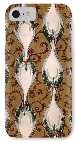Vintage Japanese Illustration Of Cranes Flying IPhone 7 Case