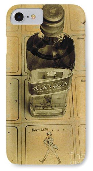 Vintage Johnnie Walker Advert IPhone Case by Jorgo Photography - Wall Art Gallery
