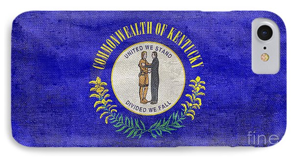 Vintage Kentucky Flag IPhone Case by Jon Neidert