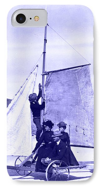 IPhone Case featuring the painting Vintage Ladies And Gentlemen Sail On The Desert Queen by Marian Cates