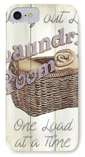 Vintage Laundry Room 2 IPhone Case by Debbie DeWitt