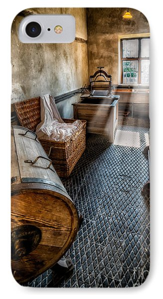 Vintage Laundry Room IPhone Case by Adrian Evans