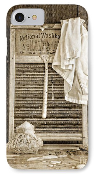 Vintage Laundry Room IPhone Case by Edward Fielding