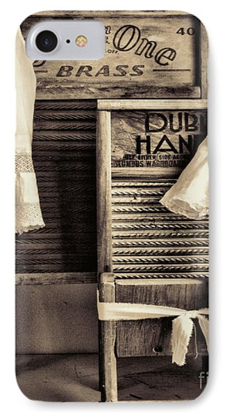 Vintage Laundry Room IPhone Case by Mindy Sommers
