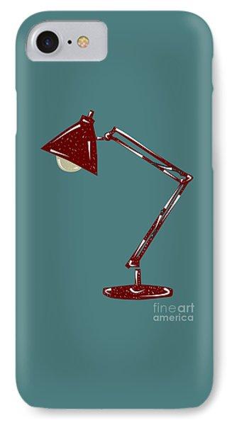 Vintage Linocut Desklamp IPhone Case by Shawn Hempel