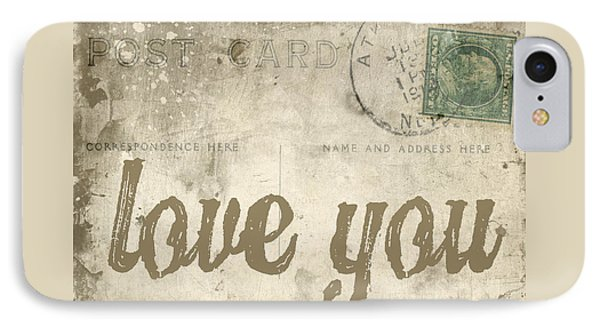 Vintage Love Letters IPhone Case