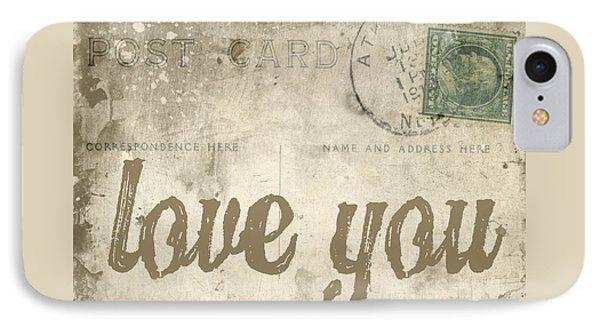 Vintage Love Letters IPhone Case by Edward Fielding