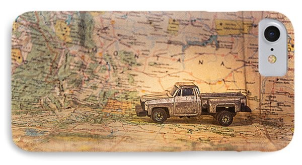 IPhone Case featuring the photograph Vintage Map And Truck by Mary Hone